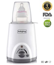 Babyhug 3-1 Bottle Warmer Cum Sterilizer - White
