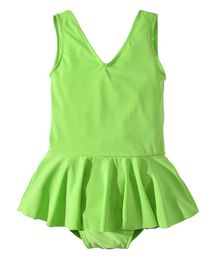 Pre Order - Awabox Solid Sleeveless Swimsuit - Green