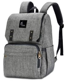 R for Rabbit Caramello Grand Back Pack Diaper Bag - Grey