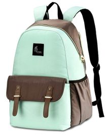 R for Rabbit Caramello Grand Back Pack Diaper Bag - Grey Green