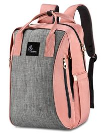 R for Rabbit Caramello Grand Back Pack Diaper Bag - Grey Peach