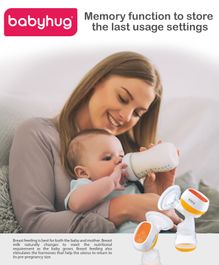 Babyhug Portable 2 in 1 Electric & Manual Breast Pump