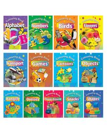 Colouring Books Pack of 13 - English