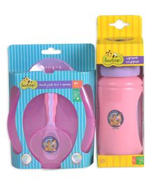Beebop Baby Essentials Lunch Box & Sipper Combo Set - Pink