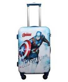 Gamme Marvel Captain America Trolley Luggage Bag White Blue - Height 20 inches