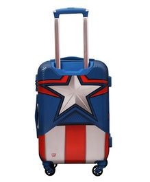 Gamme Captain America Shield Polycarbonate 20-Inches Multicolour Hard Sided Kid's Luggage Trolley Bag