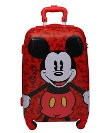 Gamme Disney Mickey Mouse Trolley Luggage Bag Red - Height 20 inches