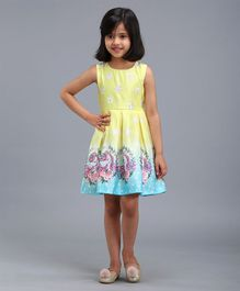 Babyhug  Sleeveless Frock with Bloomer - Yellow
