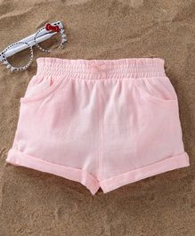 Fox Baby Solid Colour Shorts - Light Pink