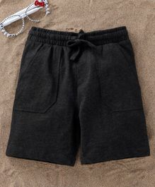 Fox Baby Solid Colour Shorts With Drawstring - Black