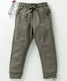 Fox Baby Full Length Lounge Pant With Drawstring - Olive Green