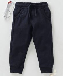 Fox Baby Full Length Lounge Pant With Drawstring - Dark Navy Blue