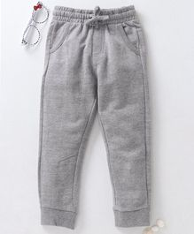 Fox Baby Full Length Lounge Pant With Drawstring - Light Grey