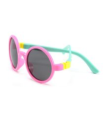 Little Palz Round Frame Solid Sunglasses - Pink