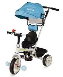 Baybee Ladyo 3 In 1 Convertible Tricycle With Parental Push Handle - Blue