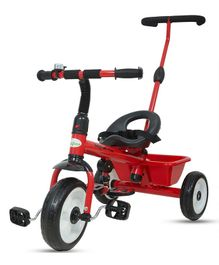 Baybee Spectra Plug & Play Tricycle With Parent Push Handle - Red