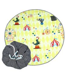 Nee & Wee Cotton Playmat Cum Drawstring Toy Storage Bag Carnival Print - Multicolour