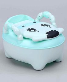 Animal Design Potty Chair With Lid - Green