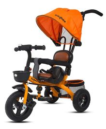 Baybee Magma 3-in-1 Smart Plug & Play Tricycle With Canopy - Orange