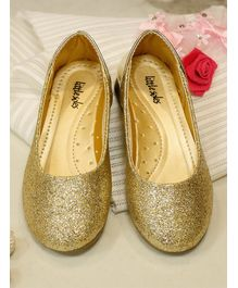 Little Soles Glitter Finish Mary Janes - Golden