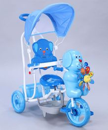 Babyhug Bruno Tricycle With Canopy & Rocking Function - Blue