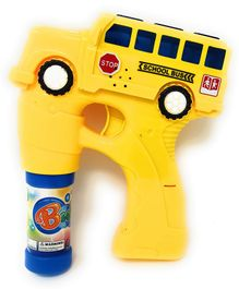 Zest 4 Toys School Bus Bubble Shooter Gun With Sirens And Music - Yellow