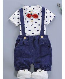 f512580f69 Pre Order - Awabox Dot Print Half Sleeves Tee   Shorts Set - Navy Blue