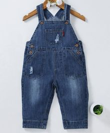 d3382fb30fa Kookie Kids Sleeveless Dungaree Style Romper - Blue