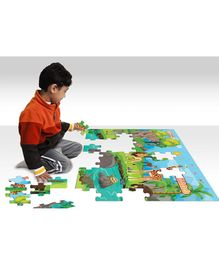 Zigyasaw Jungle Kingdom Premium Giant Floor Puzzle Multicolour - 54 Pieces