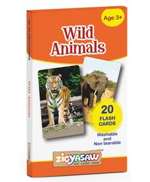 Zigyasaw Wild Animals Flash Cards - Pack of 20