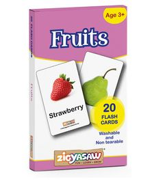 Zigyasaw Fruits Flash Cards -  Pack of 20