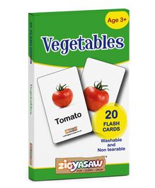 Zigyasaw Vegetables Flash Cards - Pack of 20