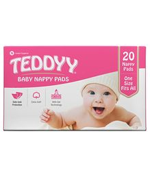 Teddyy Nappy Pads - 20 Pieces