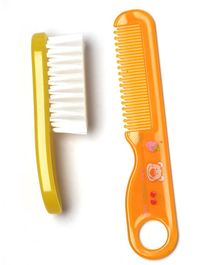 Rikang Baby Brush & Comb Set - Yellow