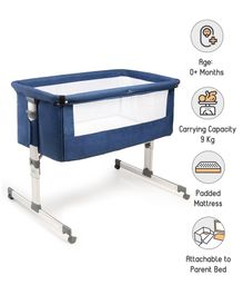 Babyhug Delight Bedside Bassinet - Blue