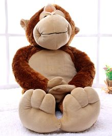 Dimpy Stuff Dark Brown Cuddly Monkey With Loose Legs - Height 69 cm