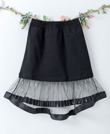 Lekeer Kids Solid Color Party Wear Skirt - Black