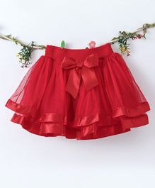 Lekeer Kids Elasticated Waist Party Wear Skirt - Red