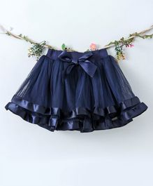 Lekeer Kids Elasticated Waist Party Wear Skirt - Blue