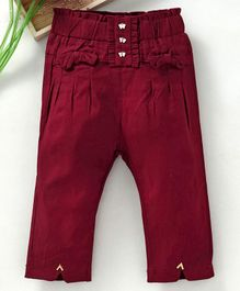TBB Elasticated Waist Solid Colour Capri - Maroon