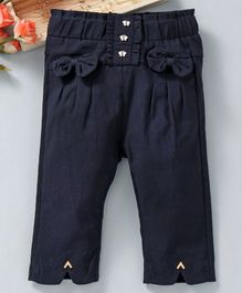 TBB Elasticated Waist Solid Colour Capri - Navy Blue