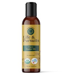 Life & Pursuits Organic Cold Pressed Castor Oil - 100 ml