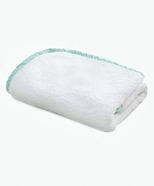 The Baby Atelier Organic Junior Towel - White Green