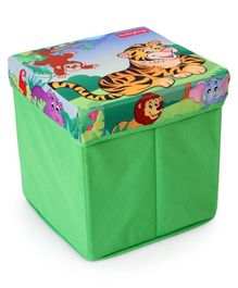 Babyhug Sto-Sit Foldable Storage Box Cum Stool - Jungle Baby
