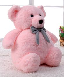 Benny & Bunny Stuff Teddy Bear Soft Toy With Bow Pink- Height 33 cm