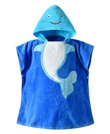 Pre Order - Awabox Sleeveless Whale Patch Bathrobe - Blue