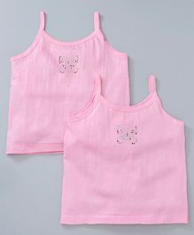Mustang Singlet Slips Embellished Pack of 2 - Pink