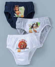 Mustang Briefs Jungle Book Print Pack Of 3 - Multicolour