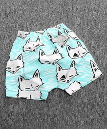 Little Palz Fox Print Shorts - Blue