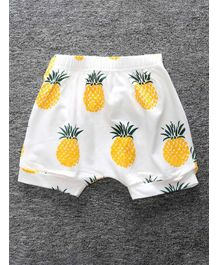 Little Palz Pineapple Print Elasticated Shorts - Yellow
